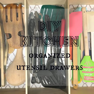 DIY Kitchen Organized Utensil Drawers