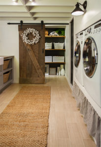 laundry barn doors storage