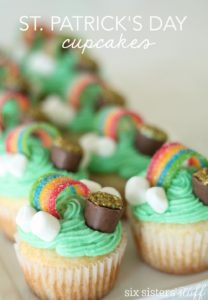 St. Patrick's rainbow cupcakes
