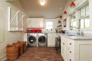 laundry room brick floors