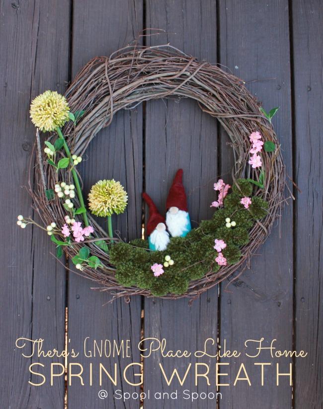 spring gnome wreath