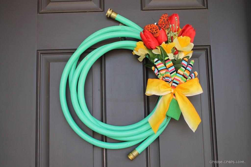 spring hose wreath