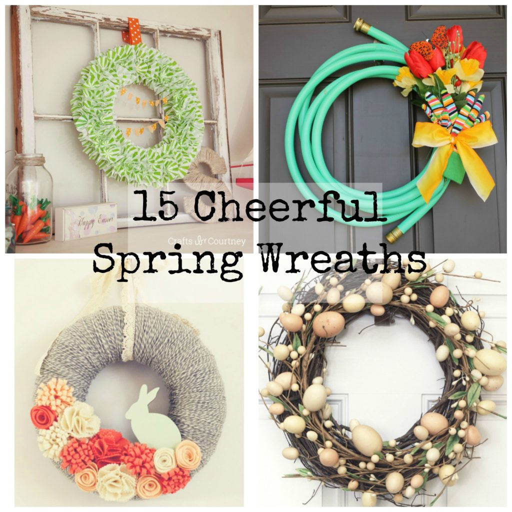 15 cheerful spring wreaths