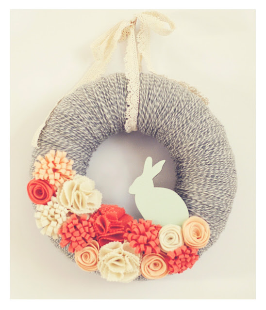 spring easter bunny wreath
