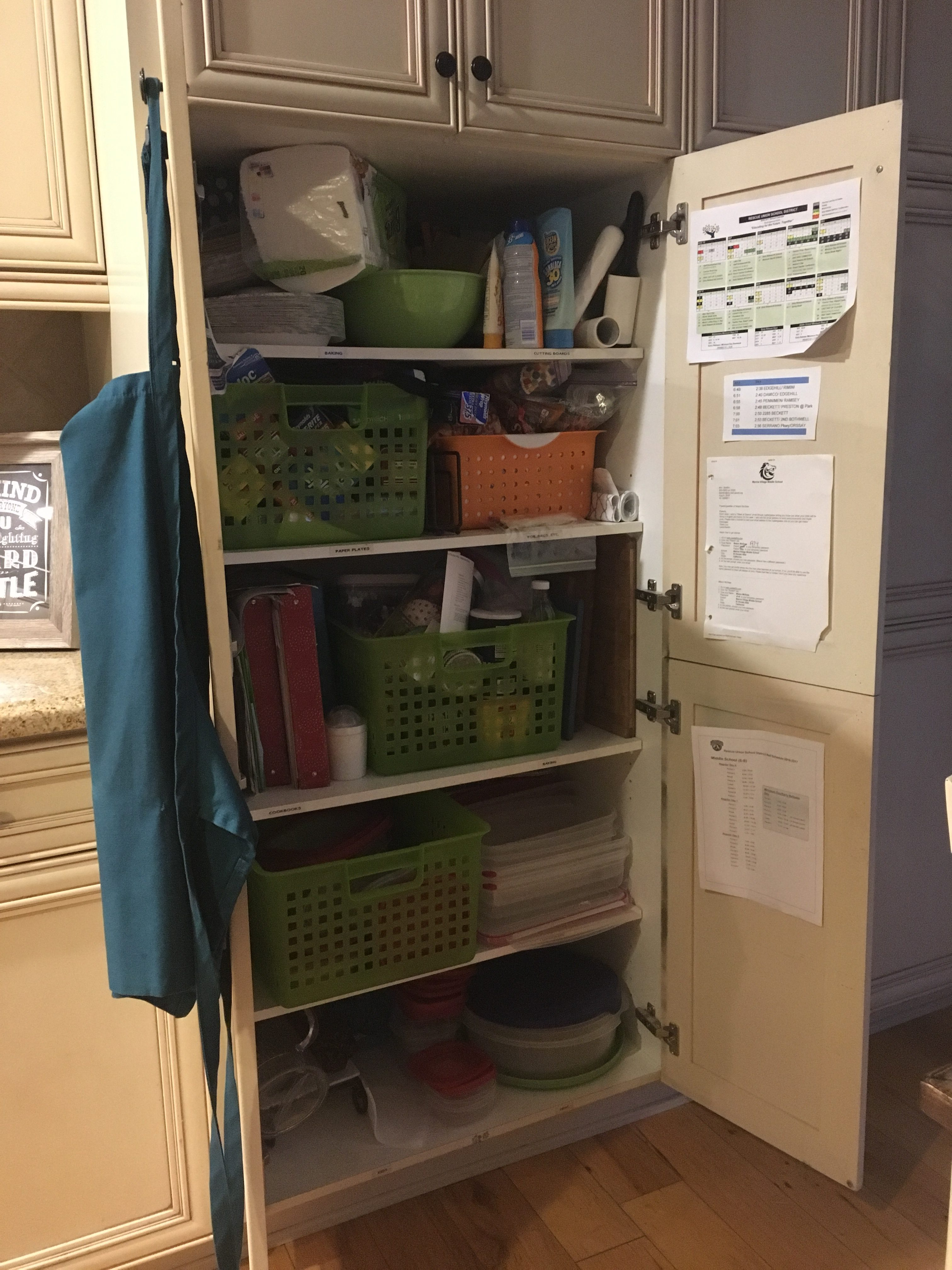 Using Baskets To Organize Your Pantry