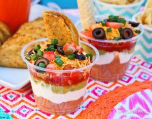 Seven-Layer-Dip-Cups Cinco-De-Mayo Mexican-Food