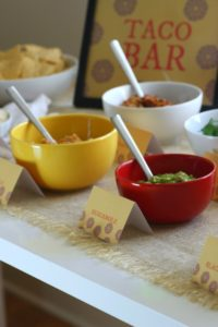 Taco Bar with Printables