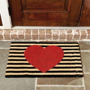 heart-door-mat