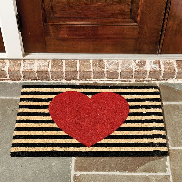 heart-door-mat