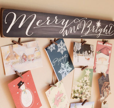 Creative Ways To Display Your Holiday Cards