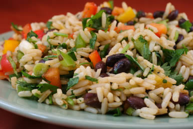 black-bean-cilantro-rice-salad