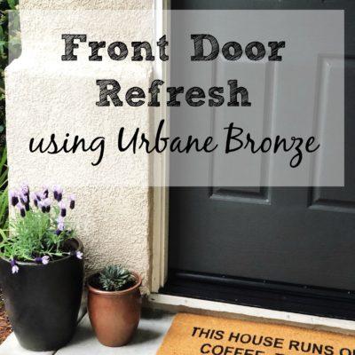 A Front Door Refresh With Urbane Bronze Paint